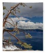 Crater Lake Pine Fleece Blanket