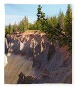 Crater Lake Pinnacles Fleece Blanket
