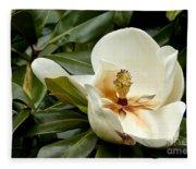 Creamy Magnolia Fleece Blanket
