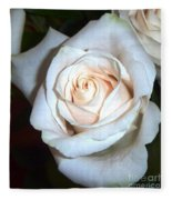 Creamy Rose Fleece Blanket