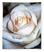 Creamy Rose IIi Fleece Blanket