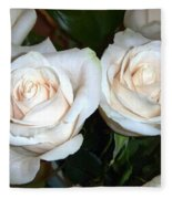 Creamy Roses I Fleece Blanket