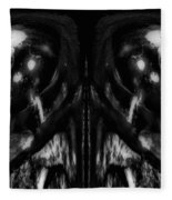 Black And White Mirror Fleece Blanket