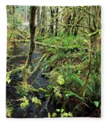 Creek In The Rain Forest Fleece Blanket