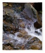 Creek Scene On Mt Tamalpais Fleece Blanket