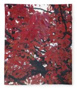 Crimson Leaves Fleece Blanket