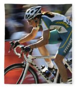 Criterium Bicycle Race 2 Fleece Blanket
