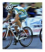 Criterium Bicycle Race 3 Fleece Blanket