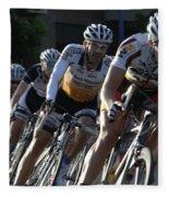 Criterium Bicycle Race 5 Fleece Blanket