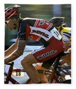 Criterium Bicycle Race1 Fleece Blanket