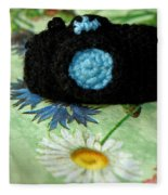 Crochet Camera Color Fleece Blanket