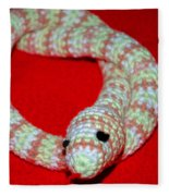 Crochet Snake In Red Fleece Blanket