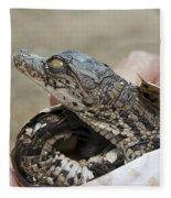Crocodile And Alligator Breeding Farm  Fleece Blanket