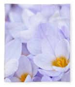 Crocus Flowers Fleece Blanket