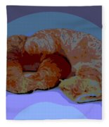 Croissants In Love Fleece Blanket