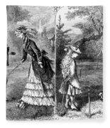 Croquet, 1873 Fleece Blanket