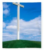 Cross Built For The Late Pope John Paul Fleece Blanket
