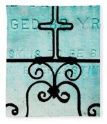 Crosses Voided Fleece Blanket
