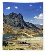 Crossing The Andes Fleece Blanket