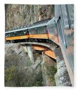 Crossing The Bridge Fleece Blanket