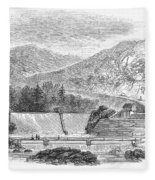 Croton Dam, 1860 Fleece Blanket