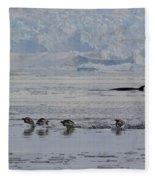 Crowded Shore Fleece Blanket