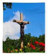 Crucifix In Indian River Fleece Blanket