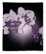 Crystal Butterfly Orchid Fleece Blanket