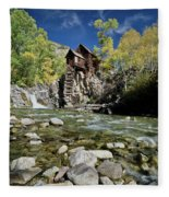 Crystal Mill In Autumn Fleece Blanket