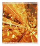 Crystallized - Digital Art Abstract Fleece Blanket