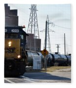 Csx Train Fleece Blanket