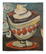 Cup Of Mocha Fleece Blanket