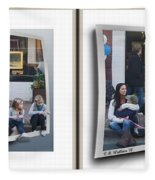 Curb Resting - Gently Cross Your Eyes And Focus On The Middle Image Fleece Blanket