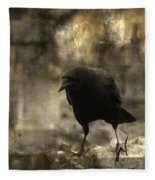 Curiosity Of The Graveyard Crow Fleece Blanket