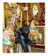 Curious Carousel Beasts Fleece Blanket