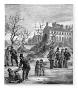 Curling, 1853 Fleece Blanket
