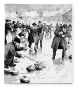 Curling, 1884 Fleece Blanket