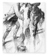 Curling Players, 1885 Fleece Blanket