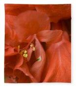 Curly Hibiscus Fleece Blanket