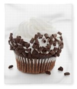 Curly Q Chocolate Cupcake Fleece Blanket