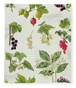 Currants And Berries Fleece Blanket