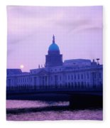 Custom House, Dublin, Co Dublin, Ireland Fleece Blanket
