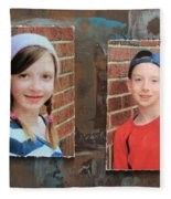 Custom Photo Portrait Group Fleece Blanket