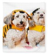 Cute Dogs In Halloween Costumes Fleece Blanket