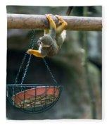 Cute Little Monkey Fleece Blanket