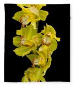 Cymbidium - Boat Orchid Fleece Blanket