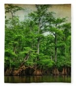 Cypress Trees Fleece Blanket