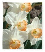 Daffodil Flowers Art Prints Spring Floral Fleece Blanket