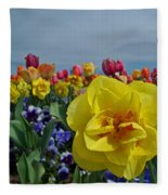 Daffodil Up Front Fleece Blanket