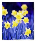 Daffodils Flowers Fleece Blanket